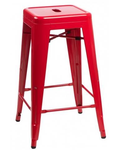 ArtD Barová stolička Paris 75cm inšpirovaná Tolix červená