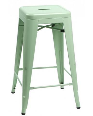 ArtD Barová stolička Paris 75cm inšpirovaná Tolix zelená