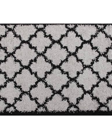 Koberec sivá/čierna 133x190 TATUM TYP 2 rozbalený tovar