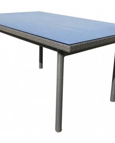 Záhradný jedálenský stôl Java 160x100 cm, šedo-hnědý%