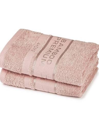 4Home Bamboo Premium uterák ružová, 50 x 100 cm, sada 2 ks