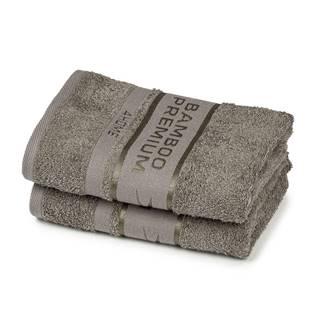 4Home Bamboo Premium uterák sivá, 50 x 100 cm, sada 2 ks