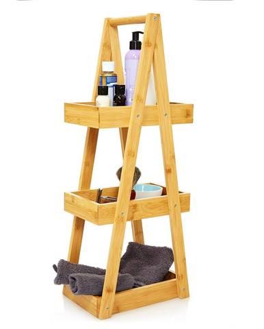 Blumfeldt Premium, regál do sprchy, 26 x 66 x 18 cm, odolný voči vode, bambus