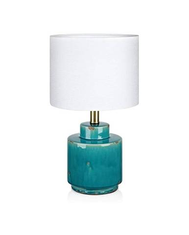 Modro-biela stolová lampa Markslöjd Cous