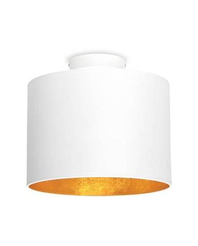 Biele stropné svietidlo s detailom v zlatej farbe Sotto Luce MIKA, Ø25 cm