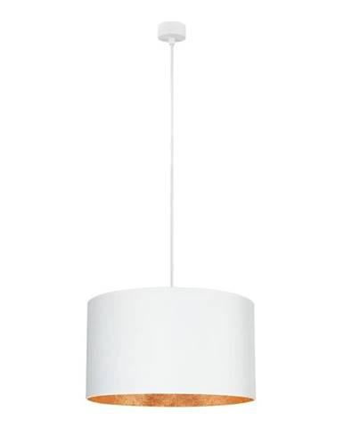 Biele stropné svietidlo s vnútrajškom v medenej farbe Sotto Luce Mika, ∅50 cm