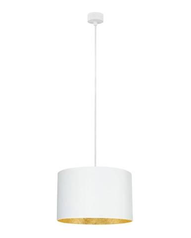 Biele stropné svietidlo s vnútrajškom v zlatej farbe Sotto Luce Mika, ⌀36 cm