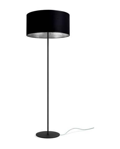 Čierno-strieborná voľne stojacia lampa Sotto Luce MIKA Elementary Xl 1F