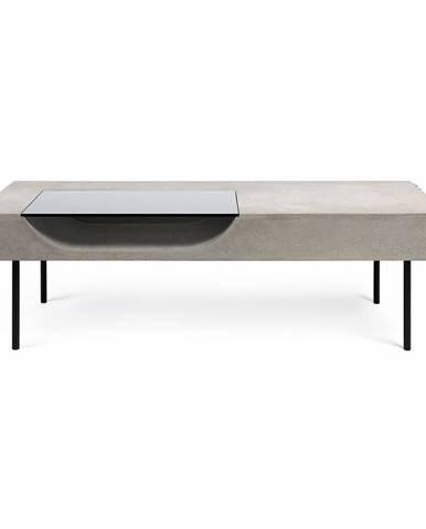 Konferenčný stolík s betónovou doskou Lyon Béton Curb, 125 x 56 cm
