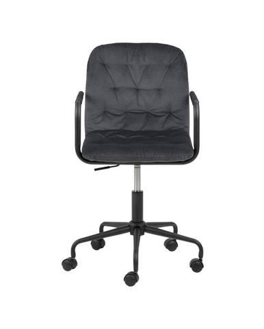 Tmavosivá kancelárska stolička so zamatovým povrchom Actona Wendy