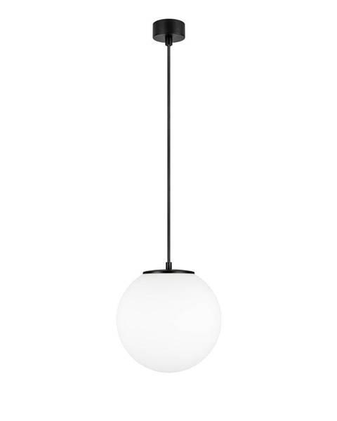 Sotto Luce Biele závesné svietidlo s objímkou v čiernej farbe Sotto Luce TSUKI M