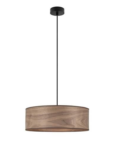 Závesné svietidlo s tienidlom z dreva orechu Sotto Luce TSURI XL