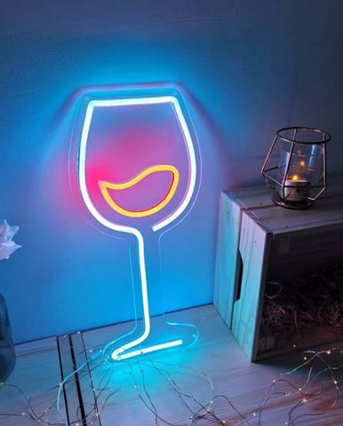 Modro-červená nástenná svietiaca dekorácia Candy Shock Wine