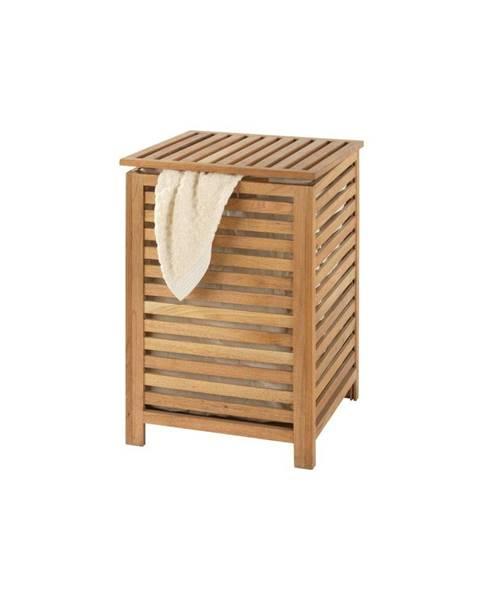 Wenko Kôš na bielizeň z orechového dreva Wenko Laundry Bin Norway, 65 l