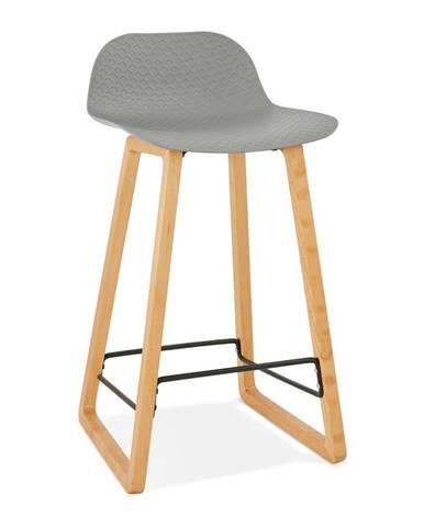 Sivá barová stolička Kokoon Astoria