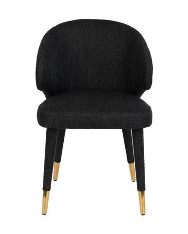Čierna jedálenská stolička Dutchbone Lunar