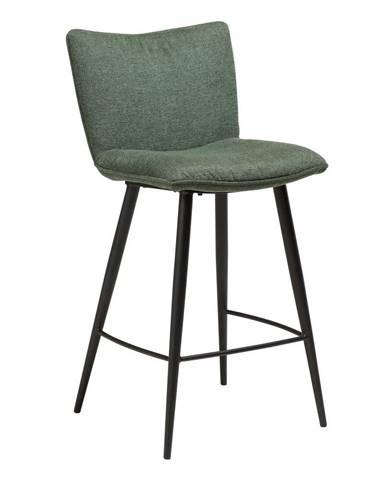 Zelená barová stolička s oceľovými nohami DAN-FORM Join, výška 93 cm