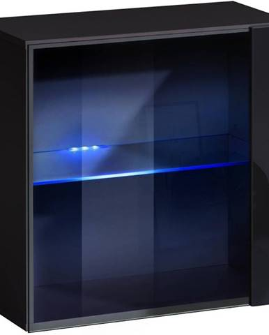 Závesná skrinka Switch WW3 čierna +LED