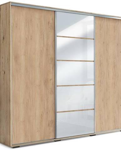 Skriňa Alicja A28 250 Zrkadlo Craft Zlatá /Biely Lacobel