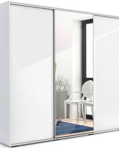 Skriňa Aniela A25 250 Zrkadlo/Biely