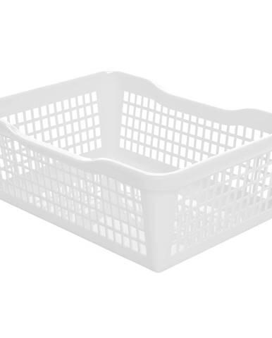 Aldo Plastový košík 24,8 x 14,7 x 7,2 cm, biela