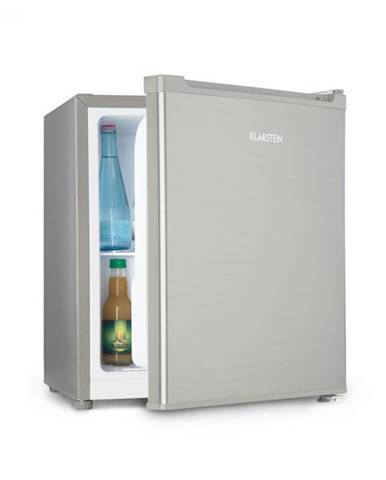 Klarstein Snoopy Eco, mini chladnička s mraziacim boxom, A++, 46 litrov, 41 dB, sivá