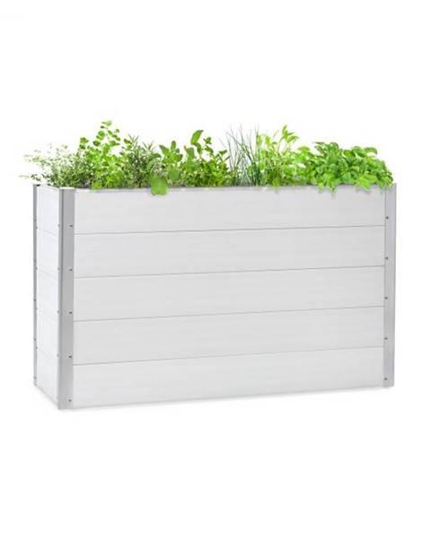 Blumfeldt Blumfeldt Nova Grow, záhradný záhon, 150 x 91 x 50 cm, WPC, drevený vzhľad, biely
