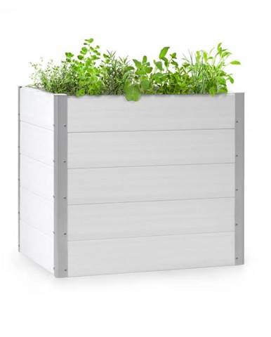 Blumfeldt Nova Grow, záhradný záhon, 100 x 91 x 100 cm, WPC, drevený vzhľad, biely