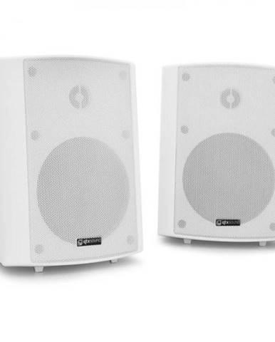 Dvojica nástenných reproduktorov QTX BC5A, 30 W RMS, biele