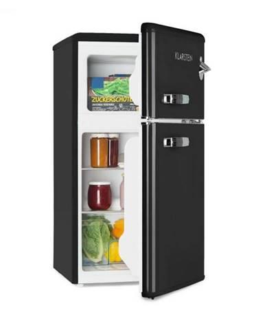 Klarstein Irene, retro chladnička s mrazničkou, 61 l chladnička, 24 l mraznička, čierna