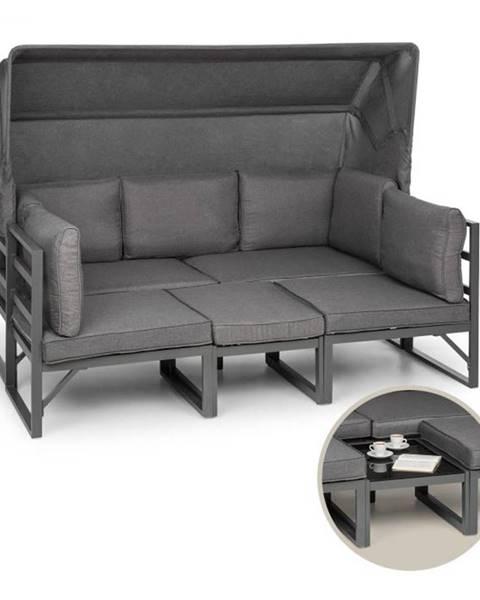 Blumfeldt Blumfeldt Ravenna, sedacia súprava, 4-dielna, variabilná, hliník, antracitová