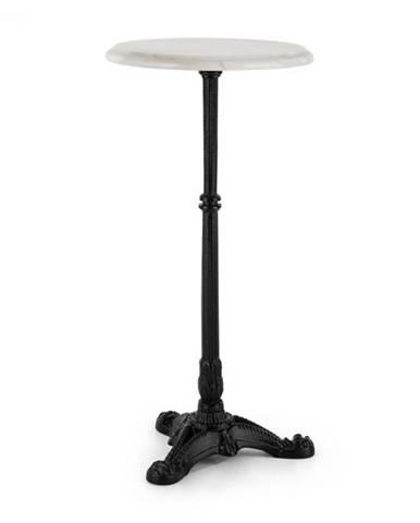 Blumfeldt Patras-XS, bistro stôl, mramorová doska Ø 30 cm, liatinový stojan