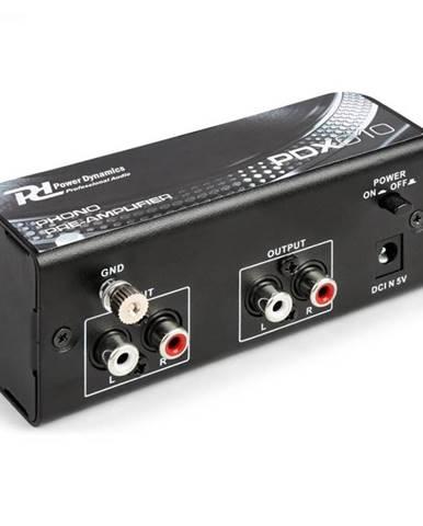 Power Dynamics PDX010, phono predzosilňovač, preamplifikátor, phono-line, stereo predzosilňovač