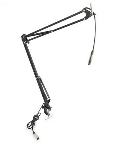 Vonyx mikrofónové stolné rameno s XLR káblom a svorkovým držiakom čierna farba
