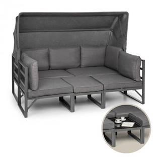 Blumfeldt Ravenna, sedacia súprava, 4-dielna, variabilná, hliník, antracitová