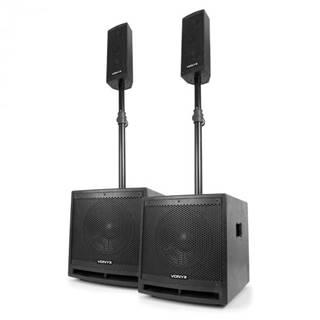 """Vonyx VX1000BT 2.2 sada aktívnych reproduktorov 1000W 10""""-subwoofer BT USB SD MIC AUX"""