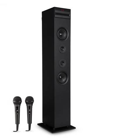 Auna Karaboom CD karaoke zariadenie, bluetooth, MP3, USB nabíjačka, mikrofón, diaľkové ovládanie, čierna farba