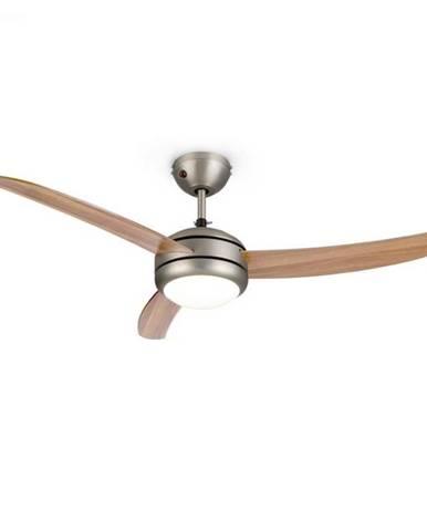 """Klarstein El Paso, stropný ventilátor, 52"""", závit E27, 3 lopatky, vzhľad dubového dreva"""