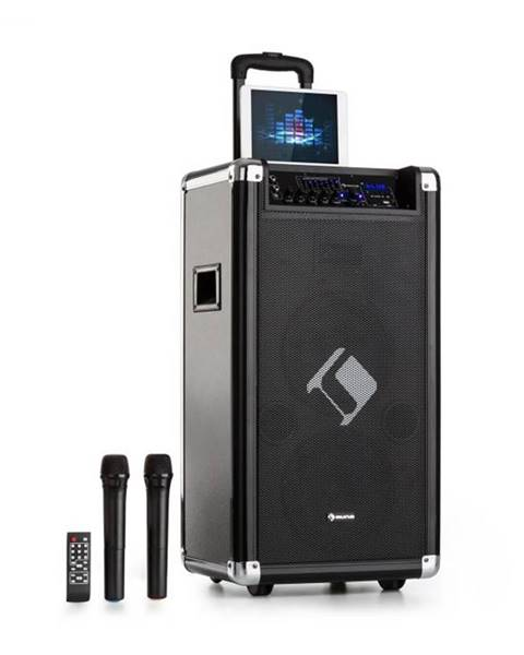 "Auna Auna Moving 120, PA systém, 2 x 8"" woofer, 60 / 200 W max. , VHF mikrofón, USB, SD, BT, AUX, prenosný"