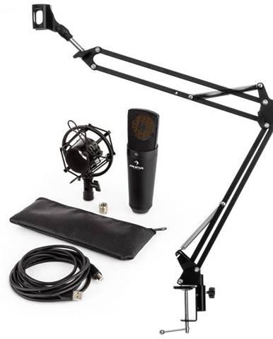 Auna MIC-920B V3, čierna, mikrofónová sada, USB kondenzátorový mikrofón, rameno