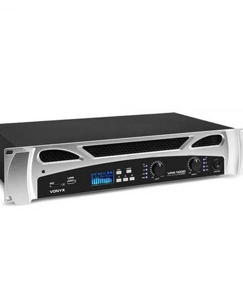 Vonyx Vonyx VPA1000, PA-zosilňovač, 2 x 500 wattow, BT-funkcia, hudobný prehrávač, LED, USB, SD