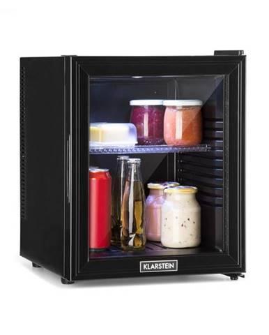 Klarstein Brooklyn 32L, chladnička, A, LED, plastová polica, sklenené dvere, čierna