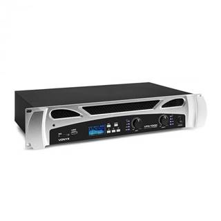 Vonyx VPA1000, PA-zosilňovač, 2 x 500 wattow, BT-funkcia, hudobný prehrávač, LED, USB, SD
