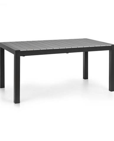 Blumfeldt Menorca Expand, záhradný stolík, 163 x 95 cm, hliník, polywood, antracitový