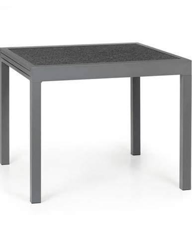 Blumfeldt Tenerife, záhradný stolík, 90 x 90 cm, hliník, sklo, granit