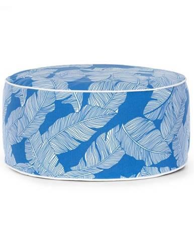 Blumfeldt Cloudio, sedačka, nafukovacia, 55 x 28 cm (Ø x V), PVC/polyester, modrá