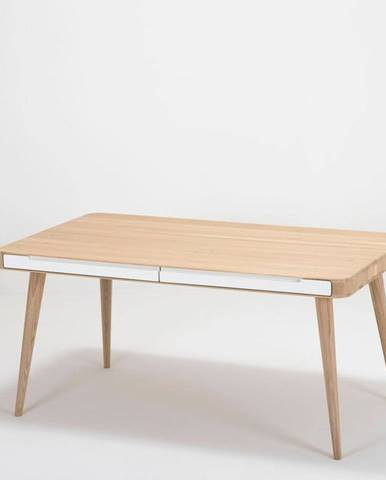 Jedálenský stôl z dubového dreva Gazzda Ena Two, 140×90cm