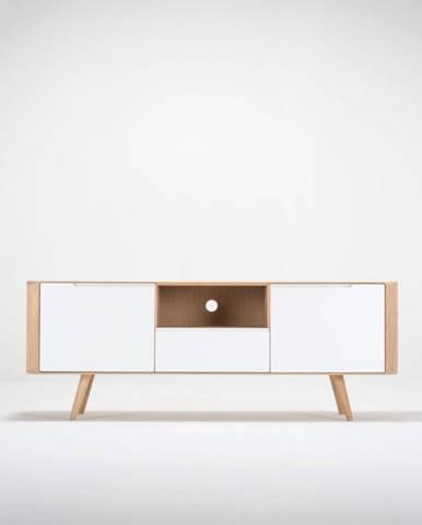 Televízny stolík z dubového dreva Gazzda Ena Two, 160×42×60 cm