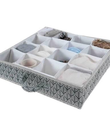 Tmavozelený úložný box s 16 priehradkami Compactor Vetements