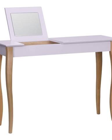Ružový toaletný stolík sozrkadlom Ragaba Dressing Table,dĺžka105cm